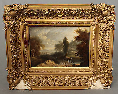 18th 19th Century Oil Painting English Countryside Landscape