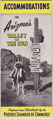 1940's Acomodations In The Valley Of The Sun Brochure