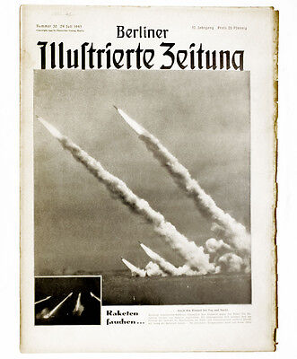 1943 German missile attack Illustrated German magazine WWII