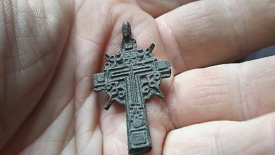 Decorative 1700s Orthodox Cross-Detecting Find