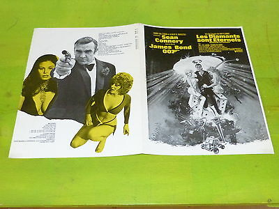 James Bond - Diamonds Are Forver - Mega Rare Original French Synopsis!!!!!!