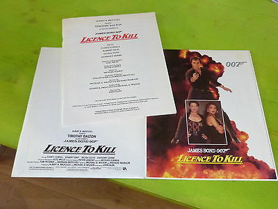 James Bond - Licence To Kill !!!!!!!!!!!!!!!! Original Pres/book