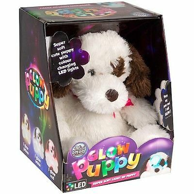 Miri Moo Loveables Soft Glow Puppy - Cuddly Plush Glowing Dog With Led Lights