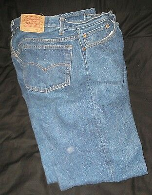 EUC Vintage Made in the USA Levi's 501 Button Fly Denim Blue Jeans 38 x 36