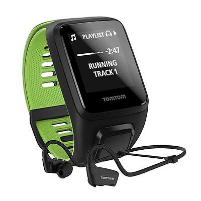 TomTom Runner 3 GPS Music Watch and Headphones: Black/Green