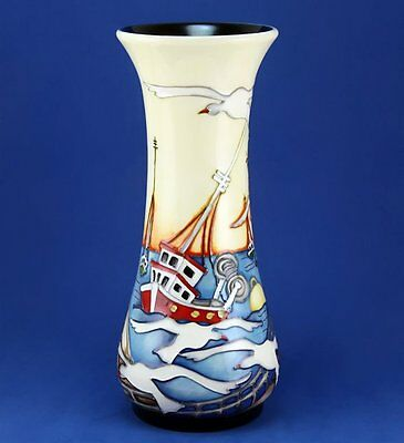 Moorcroft Out At Sea Vase, 364/8, Ltd Edition 66/100, Signed, Best Quality