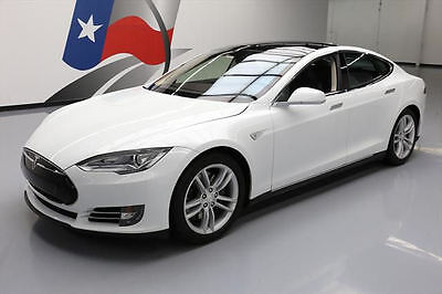 2013 Tesla Model S  2013 TESLA MODEL S TECH HTD LEATHER PANO ROOF NAV 45K #P05738 Texas Direct Auto