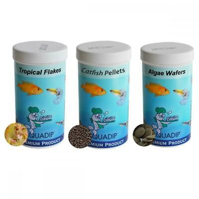 Aquarium Fish Food - Tropical flakes / Catfish Pellets / Algae Wafers 250ml