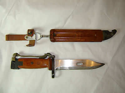 RARE IRAQ IRAQI REPUBLICAN GUARD MILITARY FIGHTING KNIFE BAYONET SCABBARD second