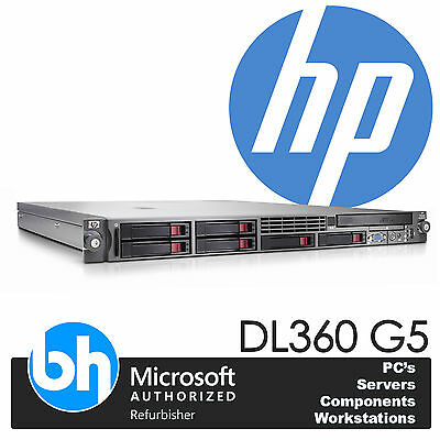 HP ProLiant DL360 G5 2x Quad Core E5420 Xeon 2.5GHz 16GB RAM P400 RAID Server