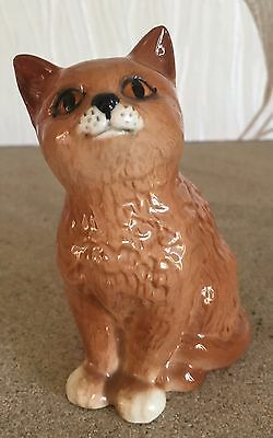 ROYAL DOULTON CAT PERSIAN KITTEN No DA 128 GINGER GLOSS PERFECT CONDITION