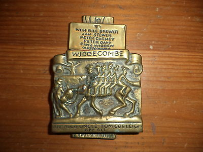 Vintage solid brass door knocker Widdecombe fair