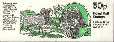 G.B. Great Britain Booklet # 239 SHEEP Included stamps