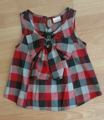 Girls red checked sleeveless top by Next age 5yrs