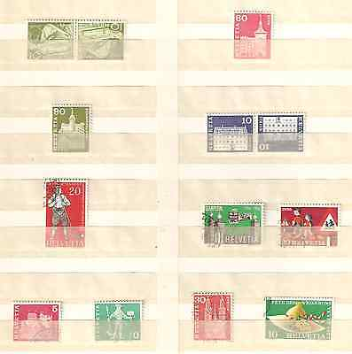 SUISSE. Lot timbres