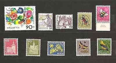 SUISSE. Lot timbres neufs **
