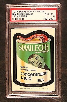 1976/77 Topps Wacky Packages 16th Series 16 SIMILECCH SQUID NM-MT PSA 8