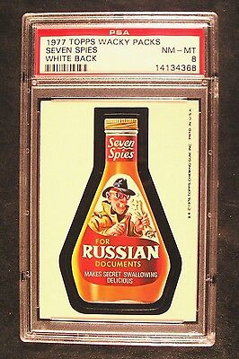 1976/77 Topps Wacky Packages 16th Series 16 SEVEN SPIES NM-MT PSA 8