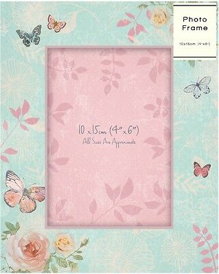 19 x 15cm Photograph Frame Unique Gift Memories Scrapbooking Floral Design Chic