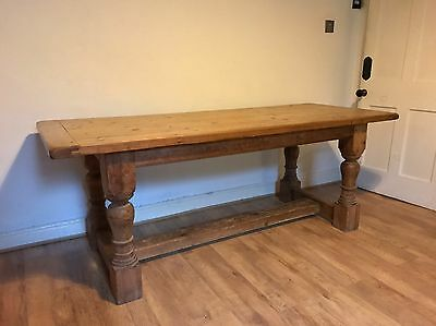 Antique solid pine dining table