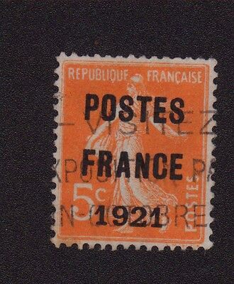 N°33 5 C Orange Semeuse Preoblitere Poste France 1921