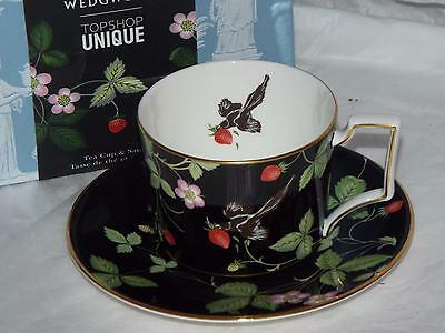 Wedgwood Exclussive To Topshop Bone China Wid Strawberry CUP & SAUCER New & Box
