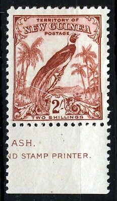 NEW GUINEA 1932-34 2s. Dull Lake Bird of Paradise with ASH Imprint SG 200 MNH