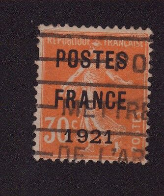 N°35 30 C Orange Semeuse Preoblitere Poste France 1921 035