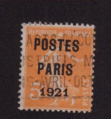 N°27 5 C Orange Semeuse Preoblitere Poste Paris 1921 027