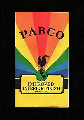 Gem 1927 PABCO The Paraffine Companies VINTAGE PAINT BROCHURE-PAMPHLET