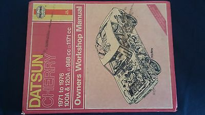 Haynes Datsun Cherry Owners Workshop Manual 1971 To 1976 No 195