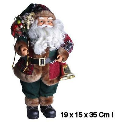 Standing Santa Claus  Luxury Traditional Christmas Decoration 35 cm ( 14 inch )