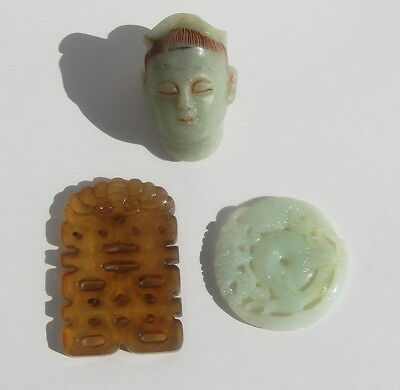 Three Old or Antique Chinese Jade Carving