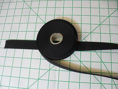 "5 Yard Lot 1"" Wide Black Nylon Webbing Strapping Straps Handles Tie-Down"