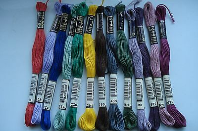 13 skeins of Anchor Cross Stitch / Embroidery threads
