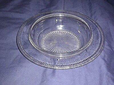Late Victorian Sowerby Clear Glass Dish with Makers Mark.