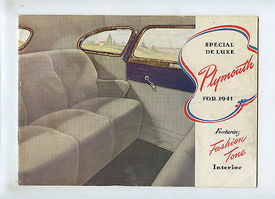 1941 Plymouth Special Deluxe Brochure Featureing Fashion Tone Interior
