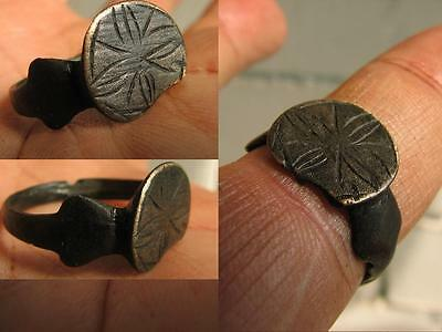 MEDIEVAL  RING with ORNAMENT - LILY # 3919
