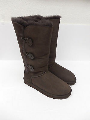 Ugg Australia Womens Bailey Button Triplet Boots 1873 Chocolate