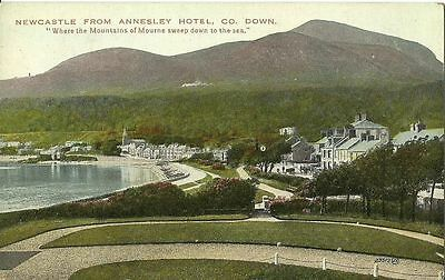 Newcastle From Annesley Hotel Co Down C1920 Valentine Postcard