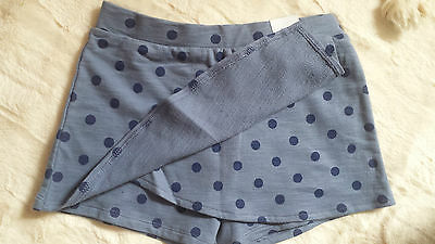 Bnwt Girls Age 8-9 Years Blue Spotted Short/skort By Matalan