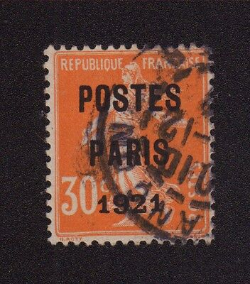 N°29 30 C Orange Semeuse Preoblitere Poste Paris 1921 029
