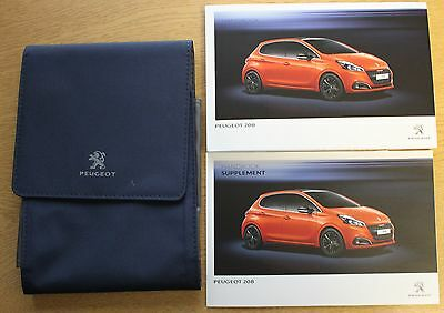 Genuine Peugeot 208 Owners Manual Handbook Wallet 2012-2016 Pack 10732