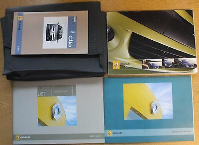 Renault Clio Ii 2001 - 2006 Owners Manual Handbook Wallet Pack 12472