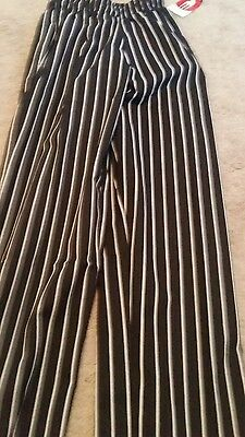 chef works size small striped trousers