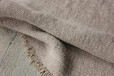 Antique hemp material Upholstery fabric 24 X inches ~ washed organic linen hemp