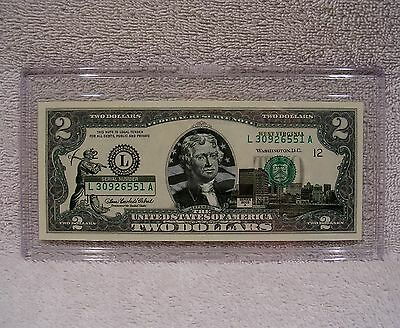 West Virginia $2 Two Dollar Bill Colorized State Landmark Uncirculated Authentic