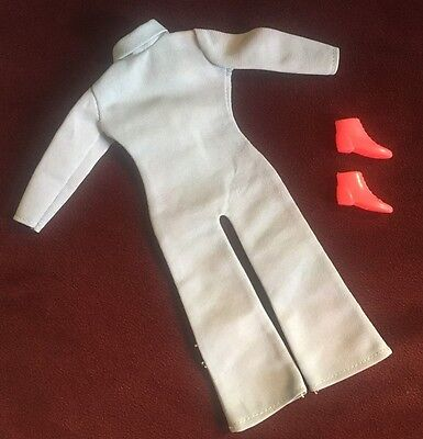 Uneeda Dollikin #70225 Baby Blue Jumpsuit Outfit 11 1/2 Fashion Doll Shoes TAG