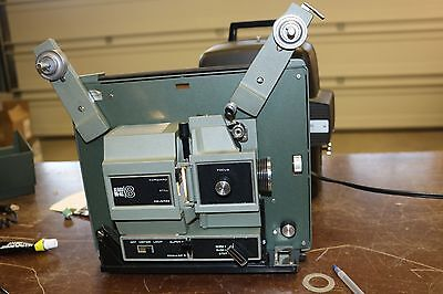 dual sears 8mm and super 8 projector with reel