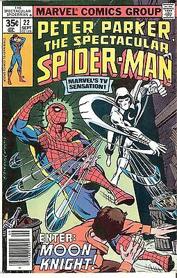 Peter Parker Spectacular Spider-man #22 Sept. 1978 Moon Knight Mike Zeck Cyclone